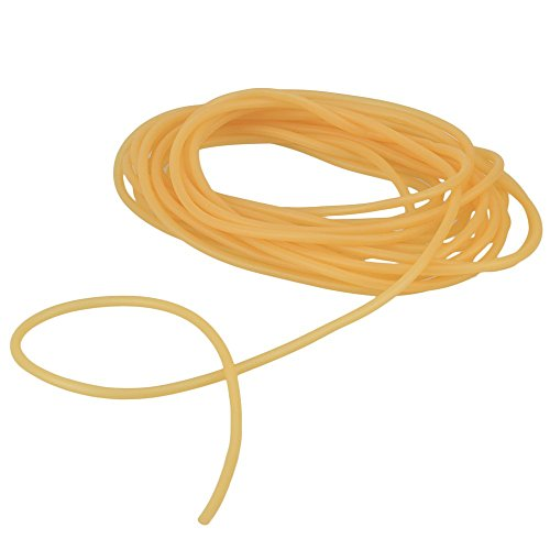WEONE Replacement Safety 4 x 6mm 10M Length Yellow Natural Latex Rubber Tourniquet Band For Outdoor Slingshot Catapult Elastic Part fitness and body movement