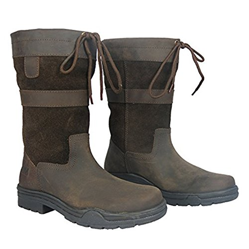Court Cuir Quarter 3 quitation Boot 10 3 Marche Waterproof Pays Marron Adult Taille Hkm 4 3 Semelle x4qfXx