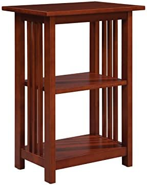 Bolton Furniture Mission 2 Shelf End Table, Cherry