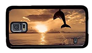 Hipster Samsung Galaxy S5 Cases cassette Dolphin Jump Sunrise PC Black for Samsung S5 by icecream design