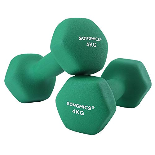 SONGMICS Juego de 2 Mancuernas para Gimnasio y Entrenamiento 2 x 4 kg SYL68GN a buen precio