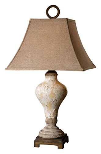 Uttermost 26785 Fobello Lamp (Lamp Table Square Uttermost Linen)