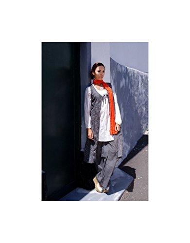 Aller Simplement - Chaleco de algodón largo V7 punto gris claro Gris