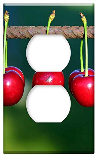 Switch Plate Outlet Cover - Cherries Fruits Fruit Red Sweet Cherry Nature