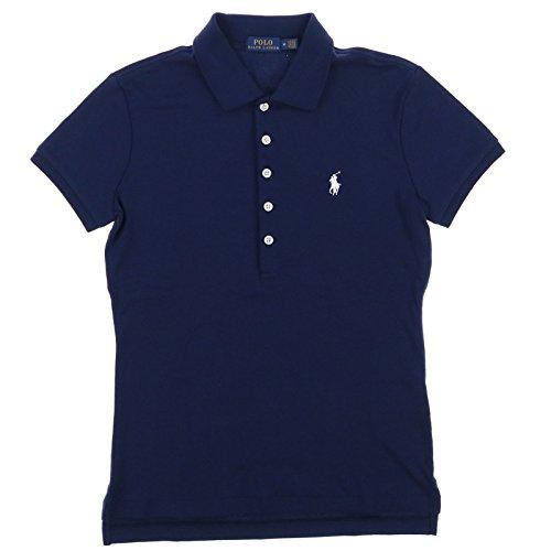 Polo Ralph Lauren Womens Polo Shirt (Small, RL Navy) (Gestreift Polo Ralph Lauren)