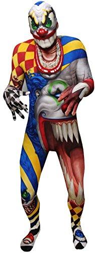 Morphsuits Men's Monster Scary Clown Skinsuit, Large