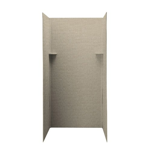 Swanstone DK-363672TN-060  Solid Surface 3 Panel Shower Side and Back Wall, Winter Wheat ()