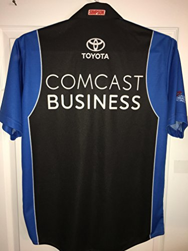 Medium Carl Edwards Comcast Business Authentic Team Issued Nascar Pit Crew Shirt Racing Toyota TRD JGR Joe Gibbs Racing 1/4 ZIP