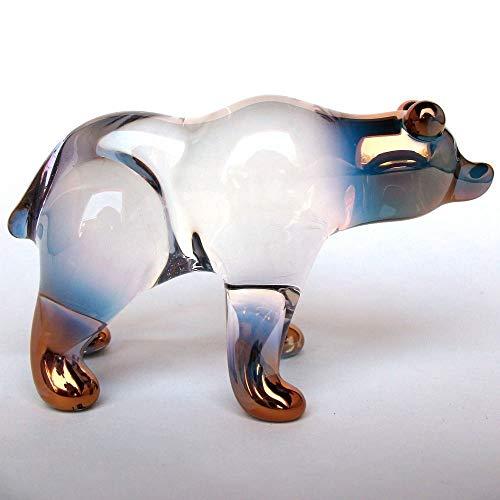 - Bear Figurine of Hand Blown Glass