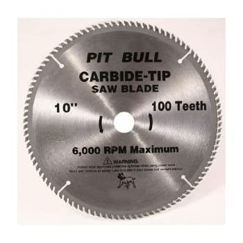 10 Quot 100 Tooth Carbide Blade Table Saw Blades Amazon Com
