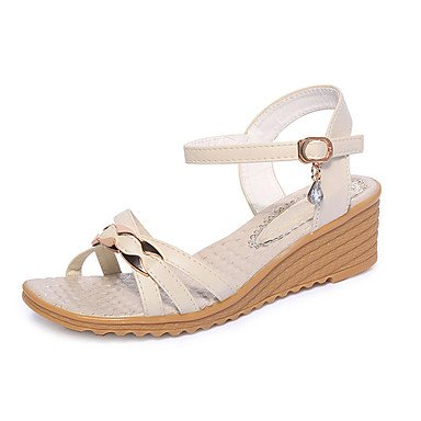 Outdoor Casual Rhinestone Beach EU37 Comfort CN37 Summer US6 UK4 Boho 5 Comfort Spring RTRY Wedge Sandals Dress Antiskid Style 5 5 7 Heel Women'S Buckle zqwfXv