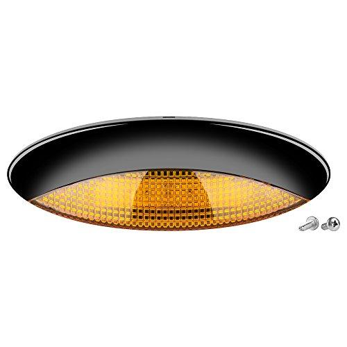 Led Euro Style Rv Porch Light Amber Lens Enjoy Clear