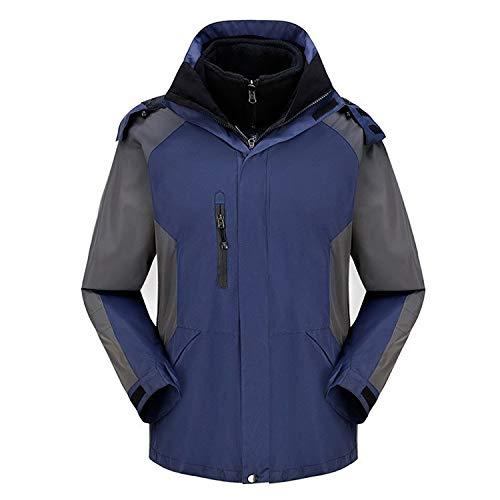 XYL HOME Outdoor Clothing, Outdoor Clothing, Men& 039;s Two-Piece Suit, warm and Cold, Navy, XXXL