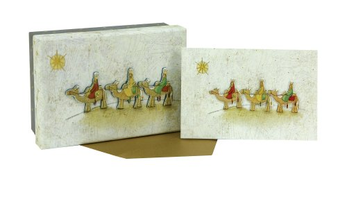 Three Holiday Kings Card (C.R. Gibson Country Christmas Boxed Cards, Three Kings, 15 Count)