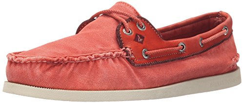 Sperry Top-Sider Mens A/o 2-Eye Wedge Canvas Boat Shoe Red n15bUiK3