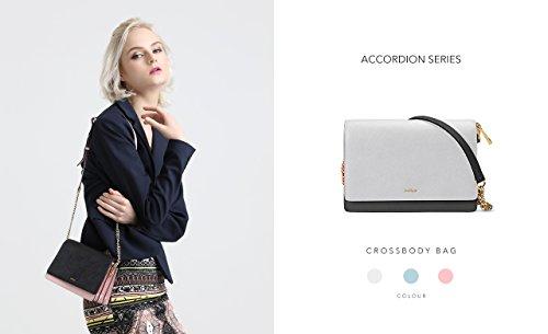 Melkco Fashion fisarmonica Series mini girello con tracolla (grigio) Nuevo Precio Barato Unisex o52pITr