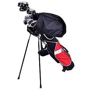 """Custpromo 5"""" Sunday Golf Bag Stand Lightweight 7 Clubs Carry Pockets Golf Standing Bags"""