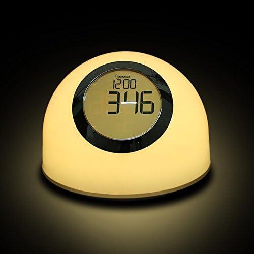 DXDYU Creative Dream Plug-in Alimentazione Lampada da Comodino Baby Sleep Light Baby Soft Light Lampada da Letto, LED Colorful Atmosphere Alarm Clock Night Light