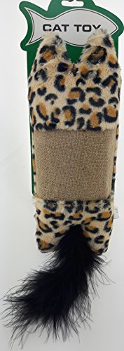 IH Large Animal Print Kicker Pillow Cat Toy with Rattle