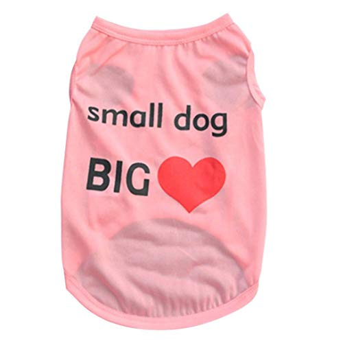Jim-Hugh Cute Letter Printed Small Dog Tops Dogs Cat Puppy Clothes T Shirt Dresses Pet Costumes ()