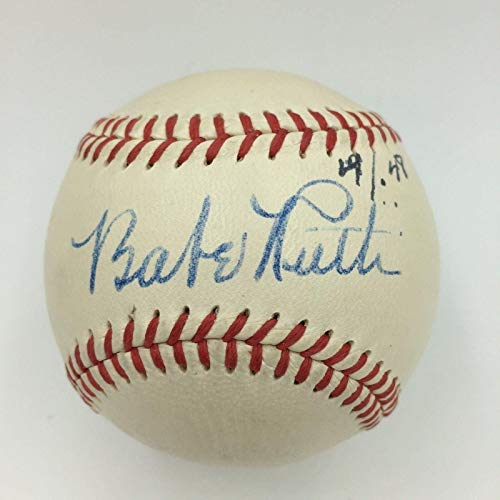 Framed Ruth Babe (Babe Ruth Autographed Baseball - The Finest Single American League MINT 8 - PSA/DNA Certified - Autographed Baseballs)