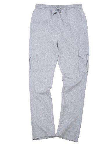 PAUL JONES Men's Cargo Pants Trousers Stylish Multi-Pockets Cotton Sweatpants