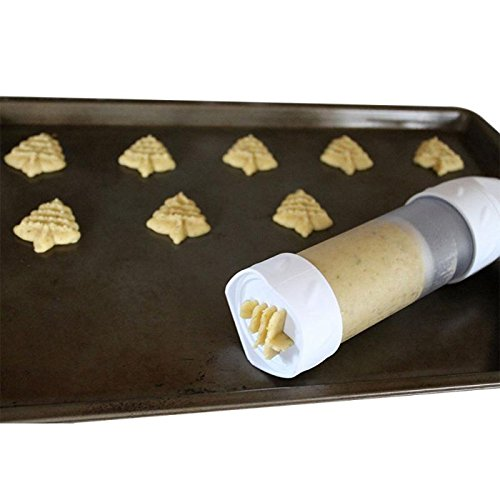 Cookie Press - Baking Decorating Cookies Mold Bakeware Set Hard Plastic Batter Dispenser Handle Cookie Press - Japan Alphabet Oreo Adapter Powered Dust Rolling Steel Wilton Moon ()