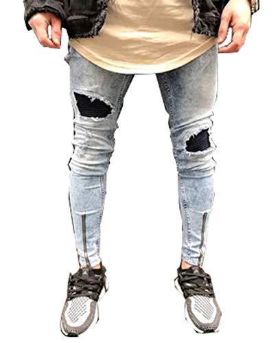 Morbidi Blue Uomo Classiche Jeans Ragazzi Comodi Ssig Fit Da Dritti E Alti Fashion Elastici Cotton Pantaloni Slim xPwg4I