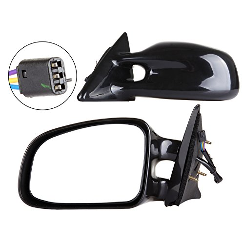 SCITOO Door Mirrors, fit Pontiac Exterior Accessories Mirrors fit 1999-2003 Pontiac Grand Am Power Controlling Non-telesccoping Non-folding Features (Pair)