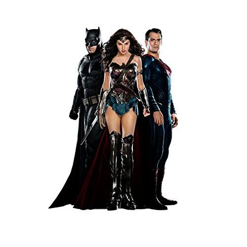 Batman V Superman: Dawn of Justice (2016) 8 Inch x10 Inch Photo Ben Affleck, Gal Gadot & Henry Cavill White Background kn