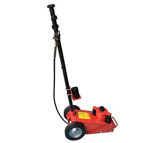 22 Ton Air Hydraulic Floor Jack Lift w/Wheel Car Truck Service Repair Lifting Tool Red