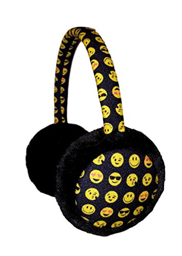 Kids Plush Emoji-Con Icon Face Earmuffs Ear Warmers Winter Ear Lap