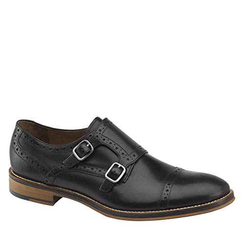 - Johnston & Murphy Men's Conard Double Buckle Monk Strap Black Italian Calfskin 9 M US