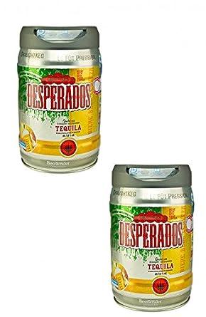 2 x Desperados cerveza con tequila en 5 litros barril incl. Espita: Amazon.es: Alimentación y bebidas
