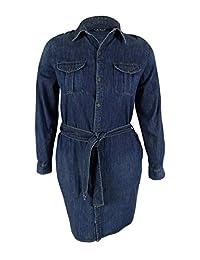 Lauren Ralph Lauren Womens Denim Long Sleeve Shirtdress