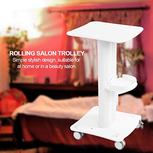 Nannday Salon Trolley, Personal Special Cart Rolling Equipment Cart Equipment Mobile Storage Tray with Locking Universal Wheel for Barber Shop, Beauty Salon, Spa