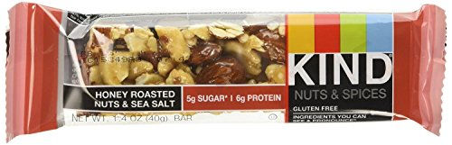 KIND Nuts & Spices qgroe Bars - Honey Roasted Nuts/Sea Salt - 48 Count by KIND