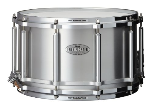 Pearl FTAL1480 14 x 8 Inches Free Floater Snare Drum - Seamless Aluminum