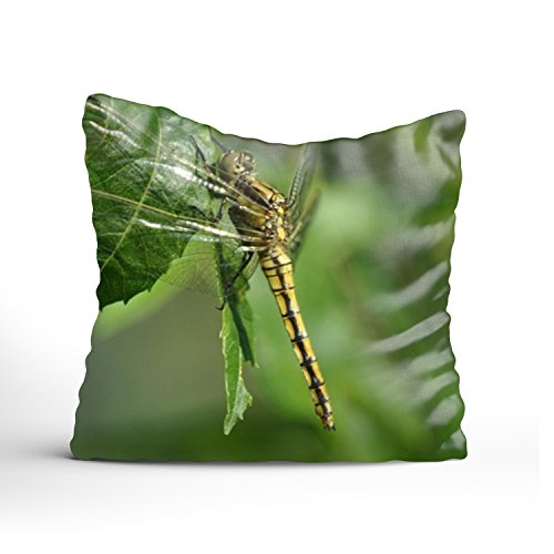 - XPNiao Animals Greeen Dragonfl Pattern Cushion Cover Cotton Linen Decorative Soft Comfortable Designed Pillow Case
