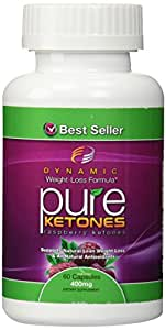 PURE KETONES Raspberry Ketones, 400 mg Per Serving, 60 Vegetarian Capsules. 100% Pure All Natural Lean Weight Loss Appetite Suppressant Supplement for Men and Women. Max Pure Raspberry Ketones Per Capsule. Full Double-Strength 30-Day Supply.