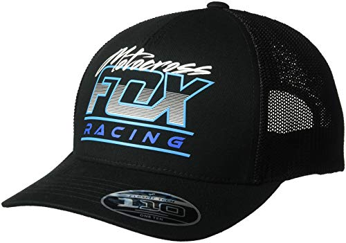 Fox Hat Adjustable - Fox Men's 110 Curved Bill Snapback Hat, Black1, OS