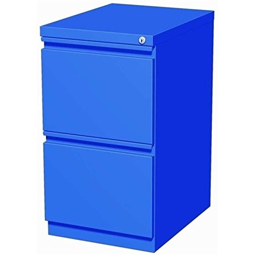 Pemberly Row 2 Drawer File Cabinet in Blue by Pemberly Row