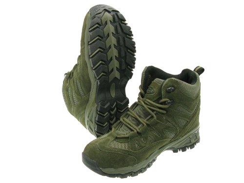 Nylon Mil Y Montaña 7 Color tec Oliva Botas Verde Acolchadas Talla De cuero Trooper rnAwrBqY0