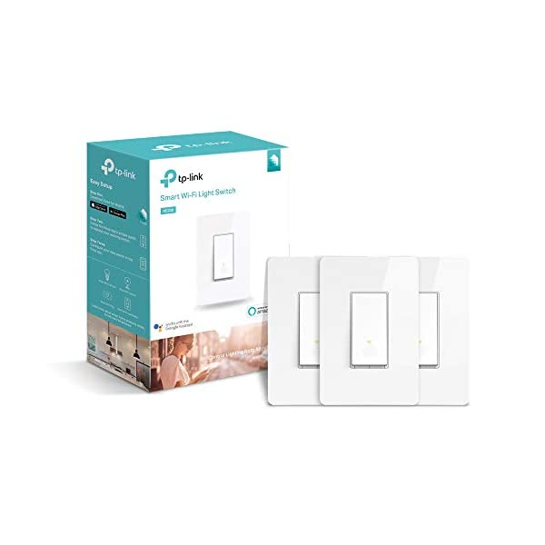 TP-LINK HS200P3 Kasa Smart WiFi Switch (3-Pack) Control Lighting from  Anywhere, Easy in-Wall Installation (Single-Pole Only), No Hub Required,  Works