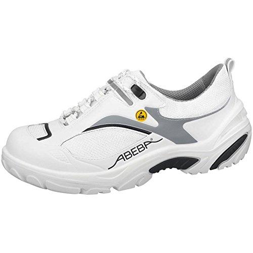 """Abeba 34514-45 talla 45 """"ESD-de peluche"""" de seguridad zapatos bajo - blanco/negro"""
