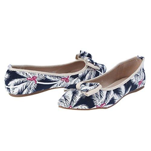 Damara Suave Mujeres Zapatos Estampados De Tela Bailarinas Con Punta Beige