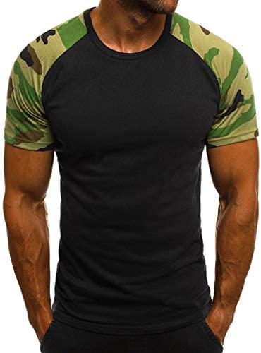 Aniywn Short Sleeve Tops for Men Slim Crew Neck Camouflage Printed Basic Daily Top Blouse T-Shirt Fitness Tops / Aniywn Short Sleeve Tops for Men Slim Crew Neck Camouflage Printed Basic Daily Top Blouse T-Shirt Fitness Tops