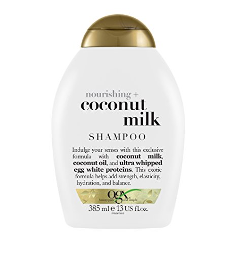 OGX Shampoo Nourishing Coconut Milk, (1) 13 Ounce Bottle, Paraben Free, Sulfate Free, Sustainable Ingredients, Strengthens, Hydrates, Balances and Restores Elasticity (Coconut Whipped Milk)