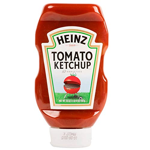Tabletop King Ketchup 20 oz. Upside Down Squeeze Bottle - 12/Case