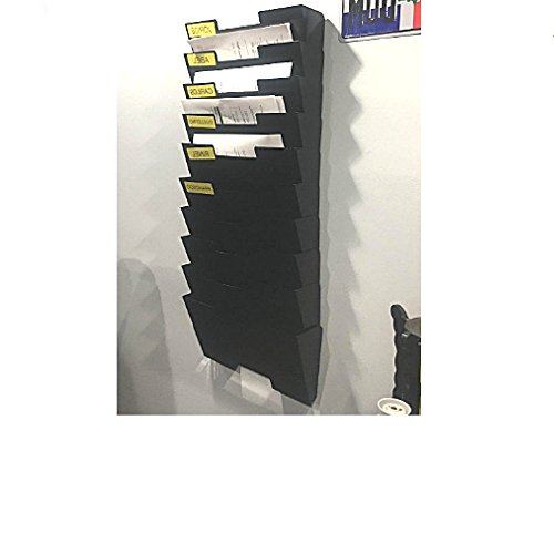 Mail Organizer Wall Mount HangingFileHolder Slot Tier Shelving Magazine Steel Shelf Document Filing Holder 10 Rack Mesh Desk Multi-Purpose Mounted Office Document Sorter & eBook by OISTRIA by Unknown